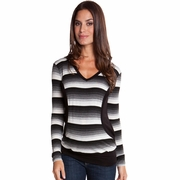 Olian Mandy Maternity Nursing Striped Hooded Top