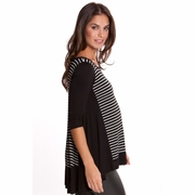Olian Mandy Maternity Hi Lo Scoop Neck Top