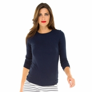 Olian Mandy Modal 3/4 Sleeve Maternity Top