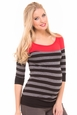 Olian Mandy Modal Color Block Stripe Maternity Top