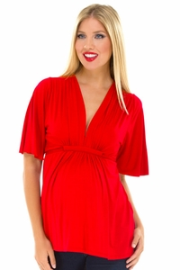 SOLD OUT Olian Mandy Modal Flutter Sleeve Maternity Top