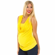 Olian Mandy Modal Sleeveless Drape Front Maternity Top