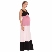 Olian Margarette Color Block Maternity Maxi Dress