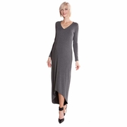 Olian Maternity Hi-Lo Maxi Dress
