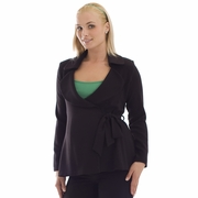 Olian Maternity Side Tie Suit Jacket