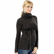 Olian Maternity Sweater with Tie