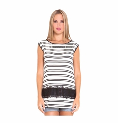 Olian Melanie Sleeveless Boat Neck Maternity Top