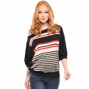 Olian Michelle Off The Shoulder Striped Maternity Top