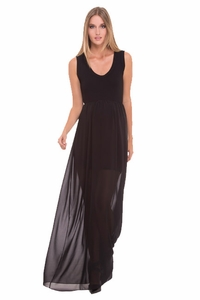 Olian Paula Chiffon Maternity Maxi Dress