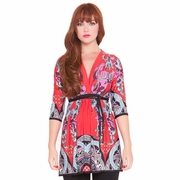 Olian Roxanne Arabesque Print Maternity Top