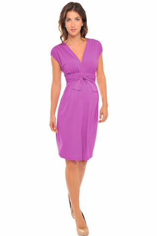 SOLD OUT Olian Ruched Shoulder Maternity And Nursing Dress
