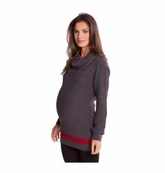 Olian Sabrina Cowl Neck Pullover Maternity Sweater