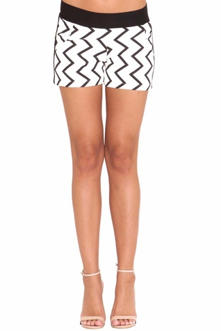 SOLD OUT Olian Sandra Chevron Print Ponte Maternity Shorts