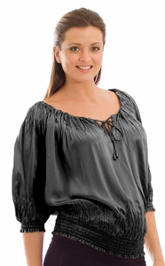 Olian Silk Maternity Top - FINAL SALE