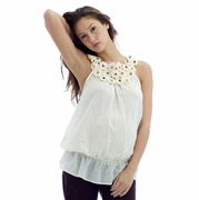 Olian Sleeveless Voile Maternity Top - FINAL SALE