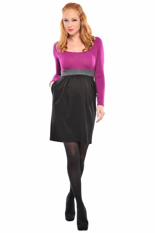 SOLD OUT Olian Suzie Color Block Ponte Maternity Dress