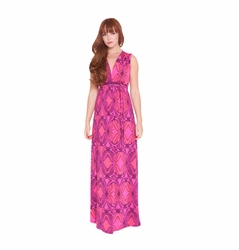 Olian Suzy Deep V Neck Maternity Nursing Maxi Dress