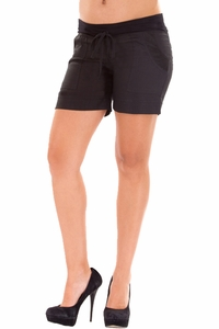 Olian Twiggy Maternity Drawstring Shorts