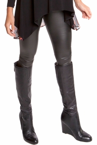 Olian Victoria Underbelly Pleather Maternity Leggings