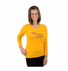 """One Creative Mama Long Sleeve Statement Tee For Moms """"Dairy Queen"""""""