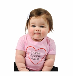"One Creative Mama Short Sleeve Tee ""I Love Mama's Milk"""