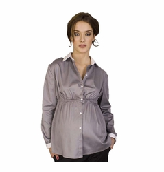 Pomkin Agathe Button Down Maternity Shirt