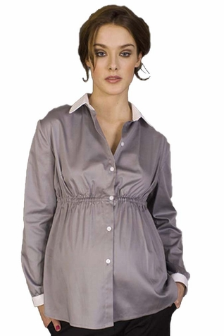 SOLD OUT Pomkin Agathe Button Down Maternity Shirt