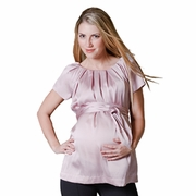 SOLD OUT Pour Deux Maternity For Two Pleated Neckline Raglan Maternity Tunic