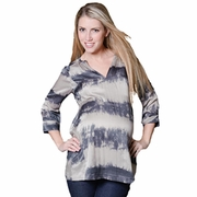Pour Deux Maternity For Two Split Neck Silk/Cotton Tunic Top