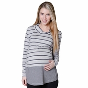 Pour Deux Maternity For Two Striped Cowl Neck Top