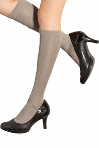 Preggers Light Compression Support Maternity Trouser Socks -French Twist Pattern