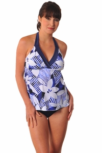 Prego Maternity Swimsuit Trimkini - Blue Floral