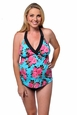Prego Maternity Swimsuit Trimkini - Turquoise Floral
