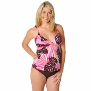 Prego Maternity Swimsuit Tropical Wrap Tankini