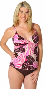 SOLD OUT Prego Maternity Wear Maternity Wrap Tankini Swimsuit - Tropical