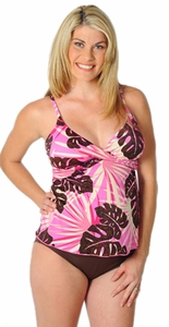 Prego Maternity Wear Maternity Wrap Tankini Swimsuit - Tropical