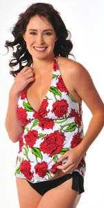 Prego Maternity Swimsuit Retro Halter - Print