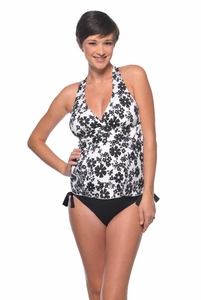 SOLD OUT Prego Maternity Swimsuit Retro Halter - Print