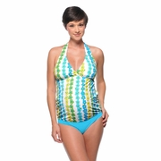 Prego Maternity Wear Slim-kini Maternity Tankini Swimsuit - Print