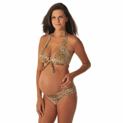 Prego Roll Waist Maternity Bikini - Animal Print