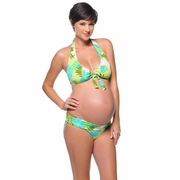 Prego Roll Waist Maternity Bikini - Pool Party