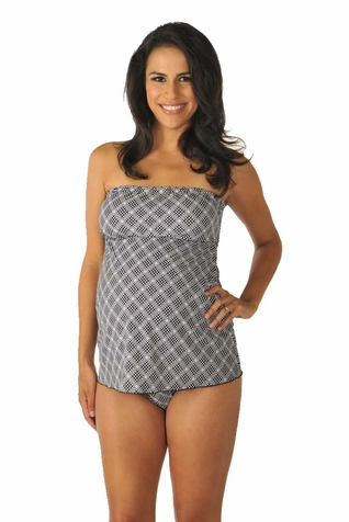 SOLD OUT Prego Strapless Mini Maternity Swimsuit - Print