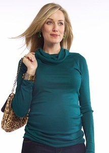 SOLD OUT Pure T Raglan Cowl Neck Maternity Tee - FINAL SALE