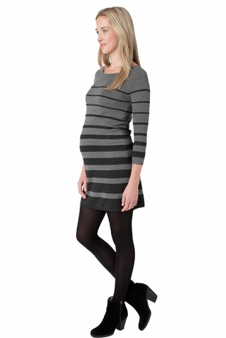 Ripe Adelaide Striped Sweater Knit Maternity Tunic