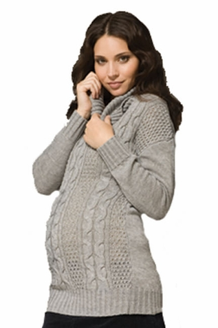Ripe Cable Knit Turtleneck Maternity Sweater