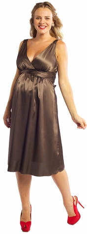 SOLD OUT Ripe Deluxe Satin Maternity Dress - FINAL SALE