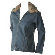 Ripe Denim Jacket with Faux Fur Collar - FINAL SALE