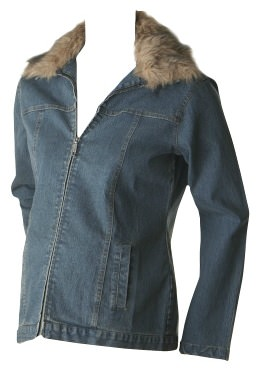 SOLD OUT Ripe Denim Jacket with Removable Faux Fur Collar - FINAL SALE