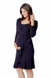 Ripe Flounce Long Sleeve Maternity And Nursing Wrap Dress
