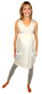 Ripe Hilton Stripe Maternity Dress - FINAL SALE